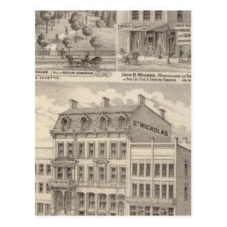Saint Nicholas Hotel, La Fayette Postcard