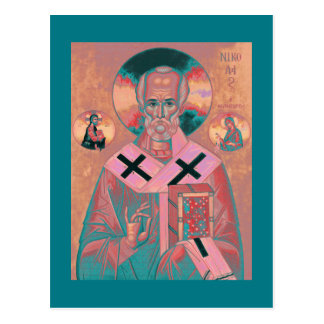 Saint Nicholas Icon Postcard