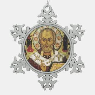 Saint Nicholas Medieval Icon Christmas Ornament