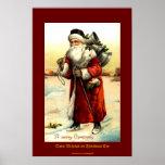 SAINT NICHOLAS on CHRISTMAS EVE Vintage Print
