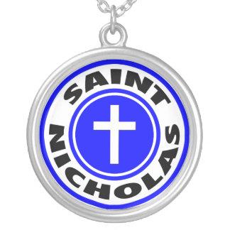 Saint Nicholas Round Pendant Necklace