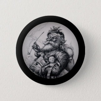 Saint Nicholas with His Pack of Toys Pinback Button