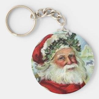 Saint Nick Basic Round Button Keychain