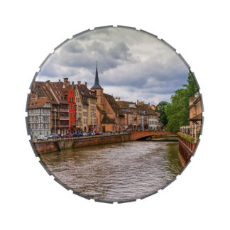 Saint-Nicolas dock in Strasbourg, France Candy Tin