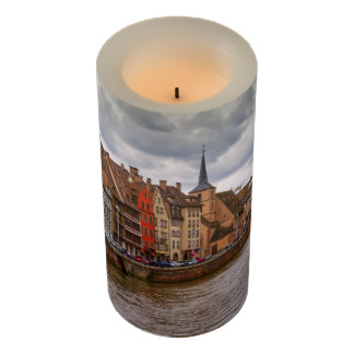 Saint-Nicolas dock in Strasbourg, France Flameless Candle