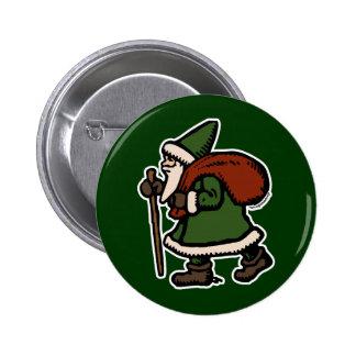 Saint Nicolas (trajes verdes) Pin Redondo 5 Cm