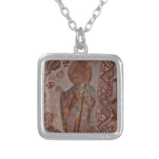 Saint Olaf of Norway Square Pendant Necklace