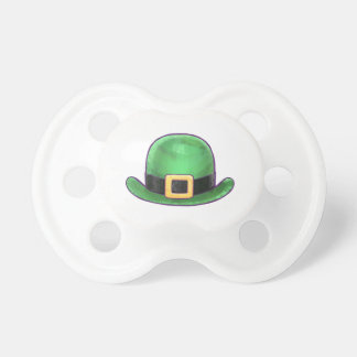 Saint Paddys Day Green Derby Hat Pacifier