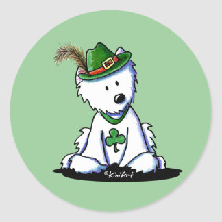 Saint Paddy's Westie Terrier Classic Round Sticker