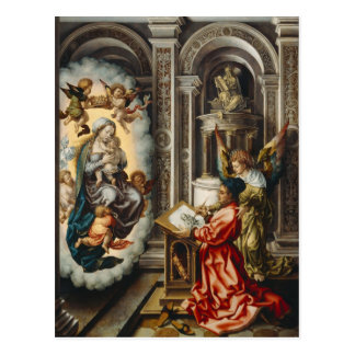 Saint Painting Madonna And Jesus Postcard