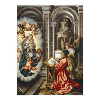 Saint Painting Mary and Baby Jesus Card