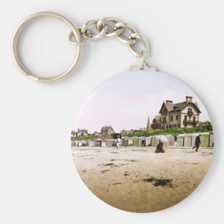 Saint-Pair-sur-Mer Normandy France Basic Round Button Keychain