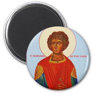 Saint Panteleimon orthodox icon magnet