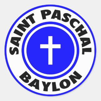 Saint Paschal Baylon Round Stickers
