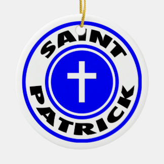Saint Patrick Ceramic Ornament