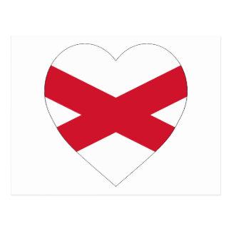 Saint Patrick Cross Flag Heart (Ireland) Postcard