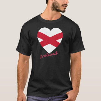 Saint Patrick Cross Flag Heart (Ireland) T-Shirt