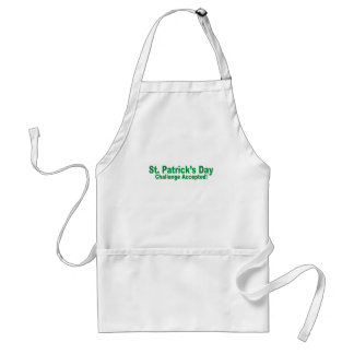 saint patrick day challenge accepted adult apron