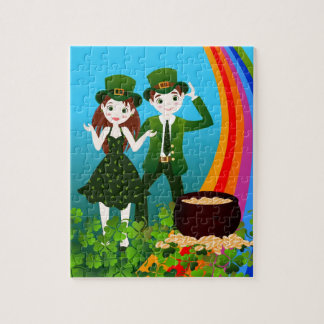 Saint Patrick Day Kids Party Jigsaw Puzzle