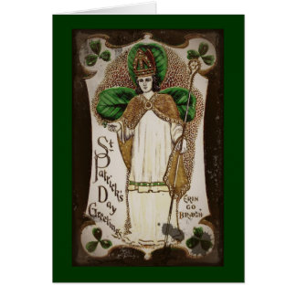 "Saint Patrick ""Erin Go Bragh"" Card"