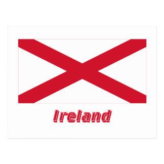 Saint Patrick Flag with Name Postcard