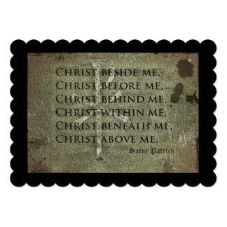 Saint Patrick Historic Quote 5x7 Paper Invitation Card