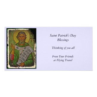 Saint Patrick Icon on Green Card