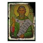 Saint Patrick Icon on Green Greeting Card