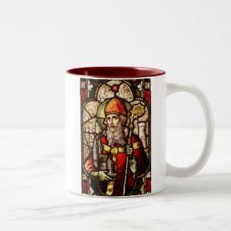 Saint Patrick Image on Stained Glass Coffee Mug