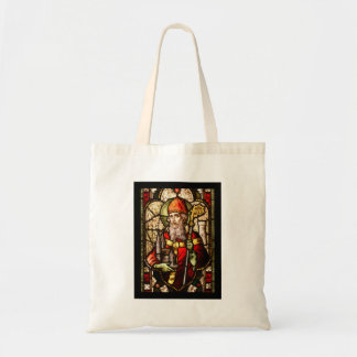 Saint Patrick in Stained Glass Tote Bag