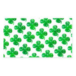 Saint Patrick Irish Glitter Clover Leaf Pattern Double-Sided Standard Business Cards (Pack Of 100)