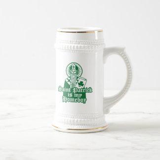 Saint Patrick is my Homeboy Beer Stein