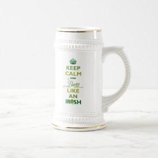 SAINT PATRICK Keep Calm And Party Like An Irish Beer Stein