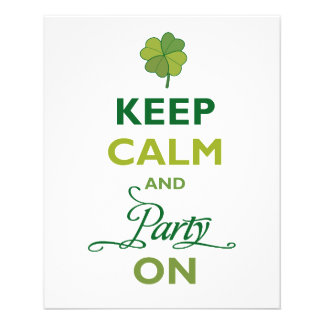 SAINT PATRICK Keep Calm And Party Like An Irish Personalized Flyer