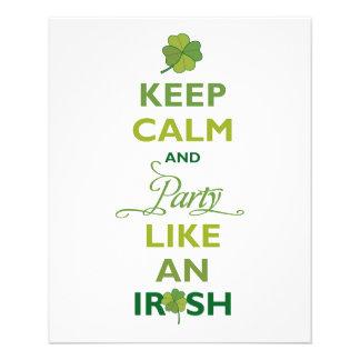 SAINT PATRICK Keep Calm And Party Like An Irish Flyers