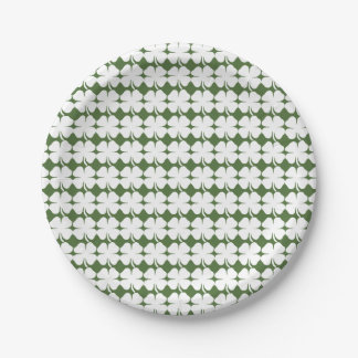 Saint Patrick Lucky Clovers 7 Inch Paper Plate