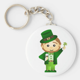 Saint Patrick' S Day Basic Round Button Keychain