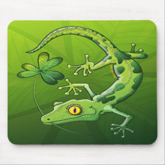 Saint Patrick s Day Gecko Mouse Pads