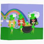 Saint Patrick's Day Girl Leprechauns Binders