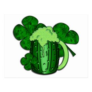 Saint Patrick s Day Green Beer Postcard
