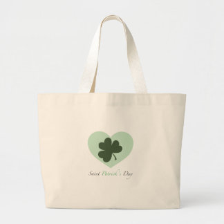 Saint Patrick s Day Heart Canvas Bags