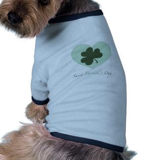 Saint Patrick s Day Heart Dog Tee Shirt