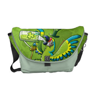 Saint Patrick s Day Macaw Courier Bags