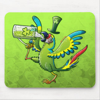 Saint Patrick s Day Macaw Mouse Pad