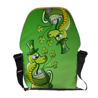 Saint Patrick s Day Snake Commuter Bags