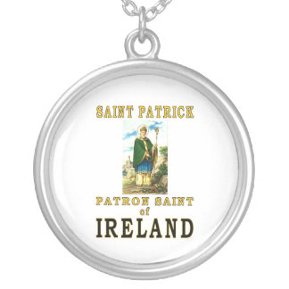 SAINT PATRICK SILVER PLATED NECKLACE