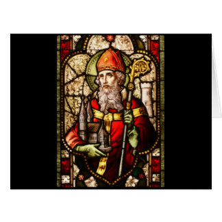 Saint Patrick Stained Glass Card