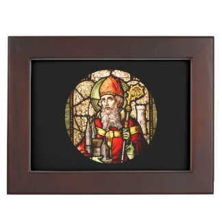 Saint Patrick Stained Glass Memory Box