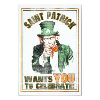 Saint Patrick WANTS YOU to Celebrate Invitation