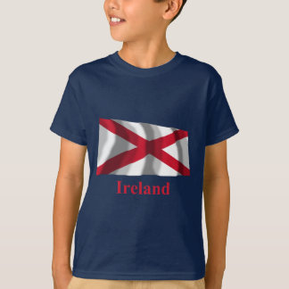 Saint Patrick Waving Flag with Name T-Shirt